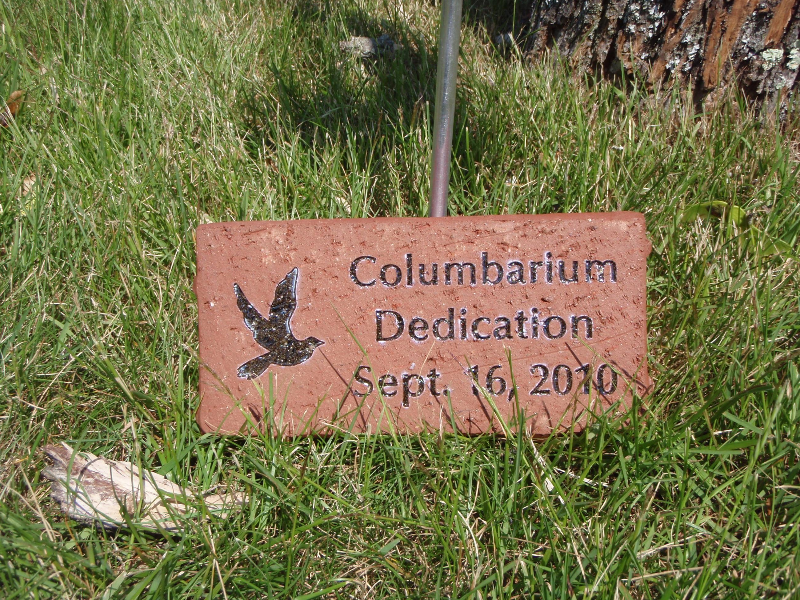 Columbarium Dedication Memorial Brick