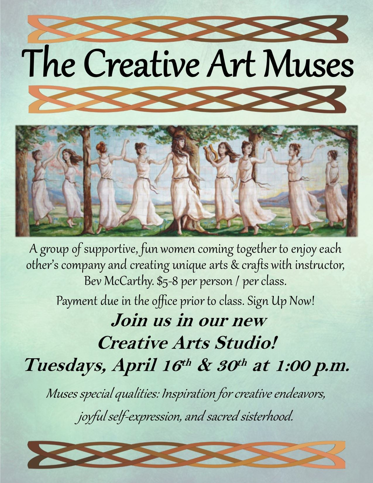 The Creative Art Muses-April