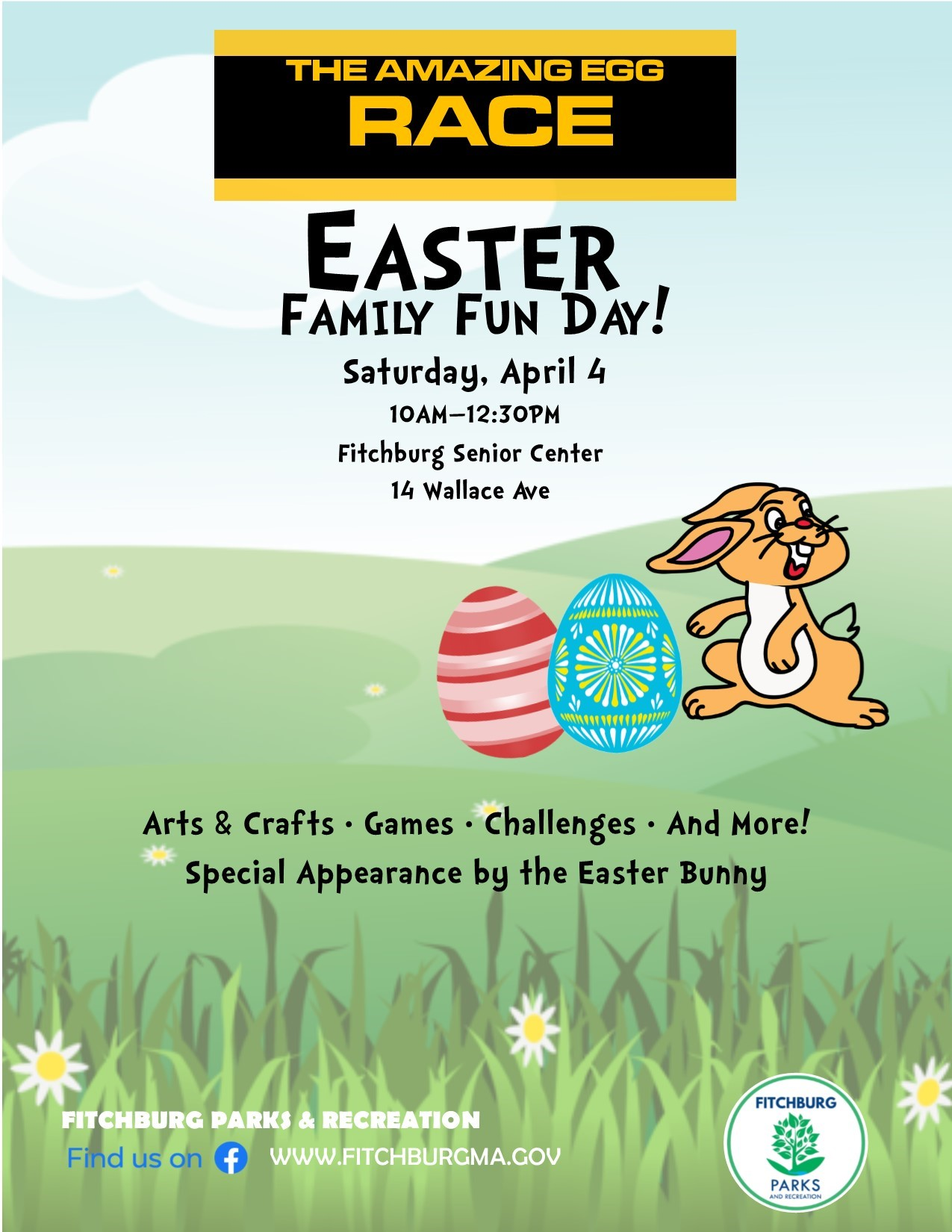 Amazing Egg Race 2020, Saturday, April 4th 10-12:30 PM