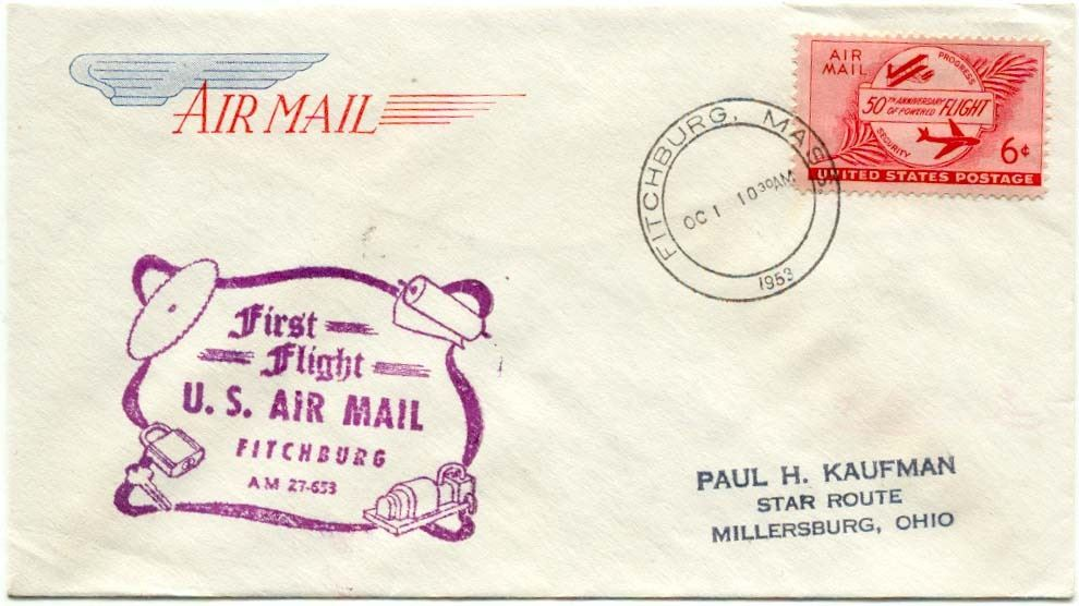 Airmail Delivery from Fitchburg