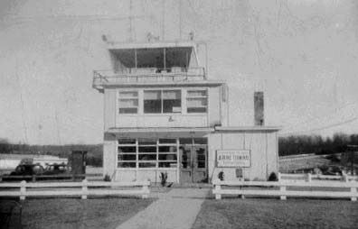 A historic photograph of Terminal B.